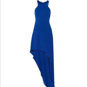 Halston Heritage cobalt-blue gown dress